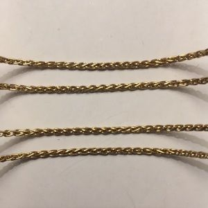 18K Solid Yellow Gold Wheat Chain